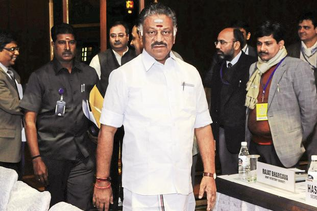 File photo. O. Panneerselvam began his political career in 1996 when he became the chairman of Periyakulam municipality, a post he held until 2001, when he was elevated as a cabinet minister. Photo: Vipin Kumar/HT