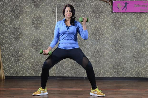 Do squats to beat love handles; side lifts to tone thunder thighs; and wide squats to get rid of flabby buttocks.
