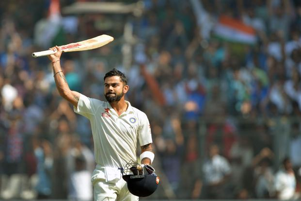 This year alone, Virat Kohli has three double centuries—only five batsmen have scored three or more in a calendar year. Photo: AFP