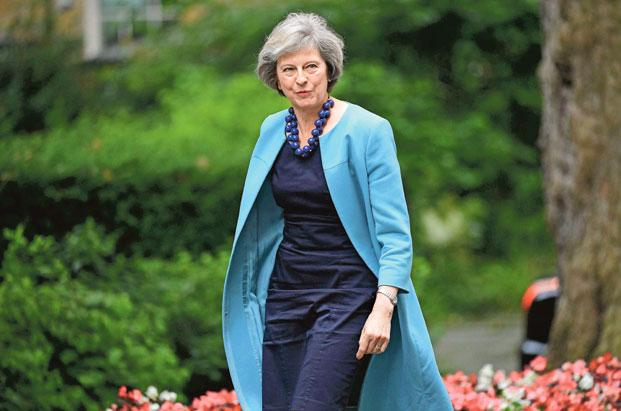 British prime minister Theresa May. For India, the British crackdown on foreign students and workers is no more than a temporary setback; but the British, however, will merely end up cutting their nose to spite the face. Photo: AFP