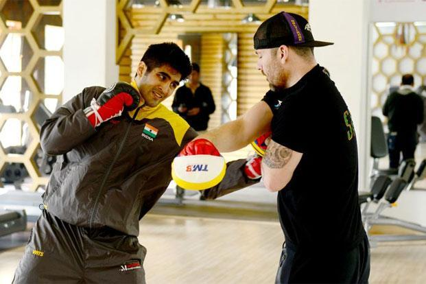 Vijender Singh had to unlearn and forget the hard-wired muscle memory of 15 years worth of amateur training. Photo: Ramesh Pathania/Mint