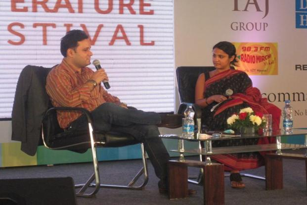 Author Amish Tripathi at a previous edition of the Bangalore Literature Festival.