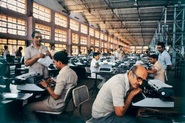 At the Godrej Typewriter Plant in 1984. Photo: Sooni Taraporevala