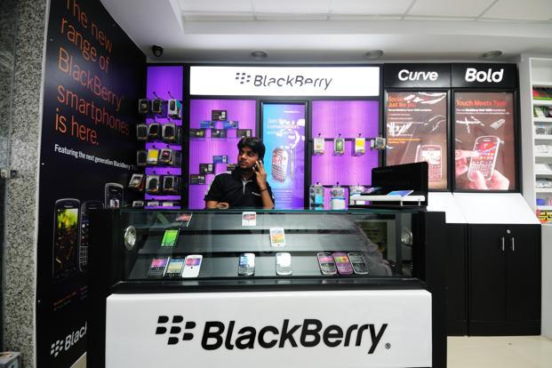 BlackBerry has seen its share of the global smartphone market fall to a fraction of 1%. Photo: Pradeep Gaur/Mint