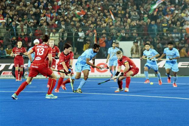 India scored two beautifully crafted field goals in the first half through Gurjant Singh (8th minute) and Simranjeet Singh (22nd) while controlling the proceedings for better part of the game to emerge as deserving winners. Photo: PTI
