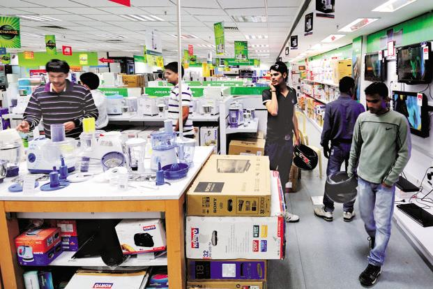 The market for consumer durables still operates 80% on cash. Photo: Priyanka Parashar/Mint