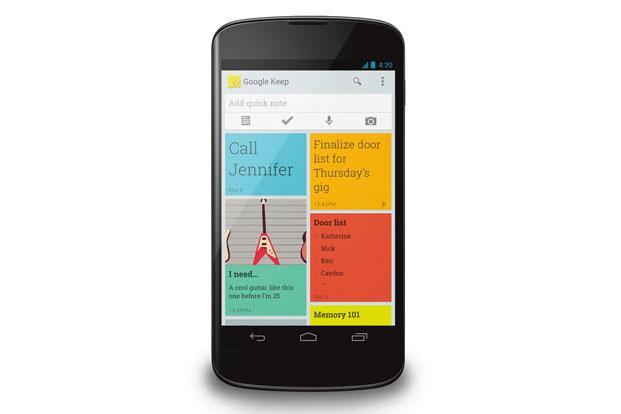 Google Keep lets you write notes and create lists, and also supports scribbling by hand, recording voice memos, capturing images and attaching Web links.