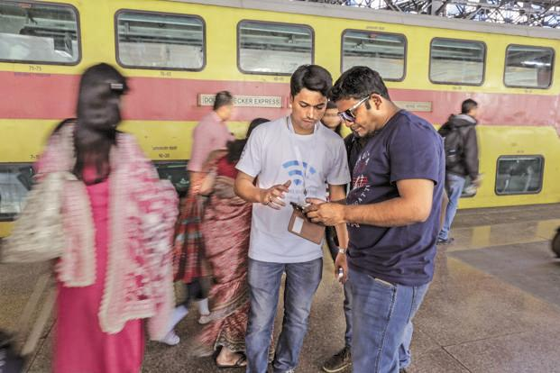 Railway stations and post offices across the country should be hotspots with high-speed Internet connections. Photo: Bloomberg