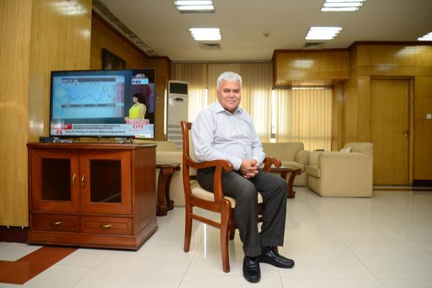 R.S. Sharma, chairman of Telecom Regulatory Authority of India. Photo: Ramesh Pathania/Mint