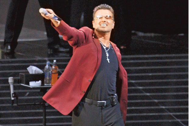 George Michael at the Wembley Stadium in London in 2007. Photo: AFP