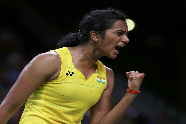 P.V. Sindhu at the Rio Olympics. Photo: Marcelo Del Pozo/Reuters