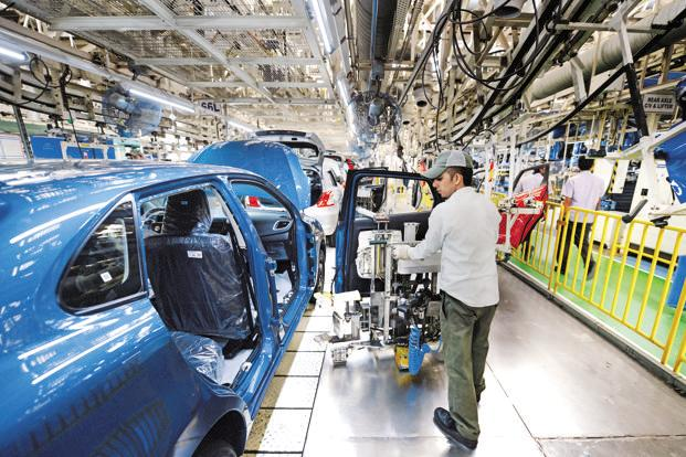 The Nikkei Markit India Manufacturing Purchasing Managers' Index in December, for the first time in 2016, showed manufacturing contracting. Photo: Ramesh Pathania/Mint