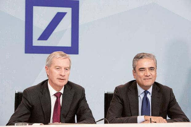 Anshu Jain (right) helped build Deutsche Bank into Europe's biggest securities firm over two decades before stepping down in June 2015. Photo: Bloomberg