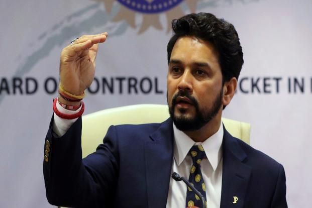 On Monday, the court ordered removal of Anurag Thakur (above) and Ajay Shirke from the posts of BCCI president and secretary, respectively. Photo: Reuters