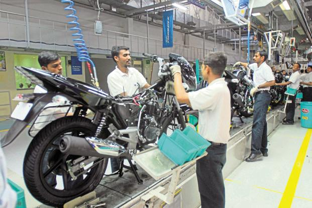 A file photo of Bajaj Auto plant at Chakan in Pune. Photo: Mint