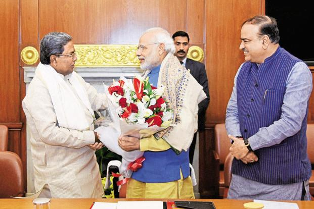 Karanataka CM Siddaramaiah had met PM Narendra Modi on 30 December to request him to release the drought relief fund. Photo: PTI