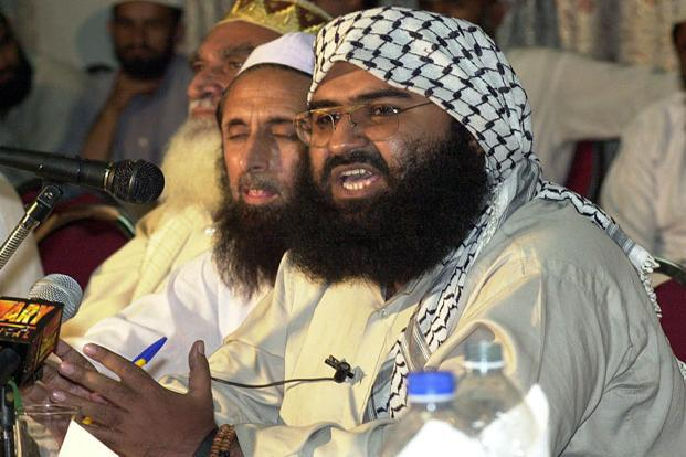 Jaish-e-Mohammed chief Maulana Masood Azhar. India examining all options and consulting co-sponsors—the US, UK and France—of the resolution that was first introduced at UNSC's 1,267 committee which sanctioned individuals and entities associated with Al-Qaeda and other terrorist groups last March. Photo: AFP (AFP)