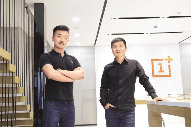 Carl Pei (left) and Pete Lau claim OnePlus has a 19% share in the premium smartphone market in India and predict that this will continue to increase. Photo: Hemant Mishra/Mint