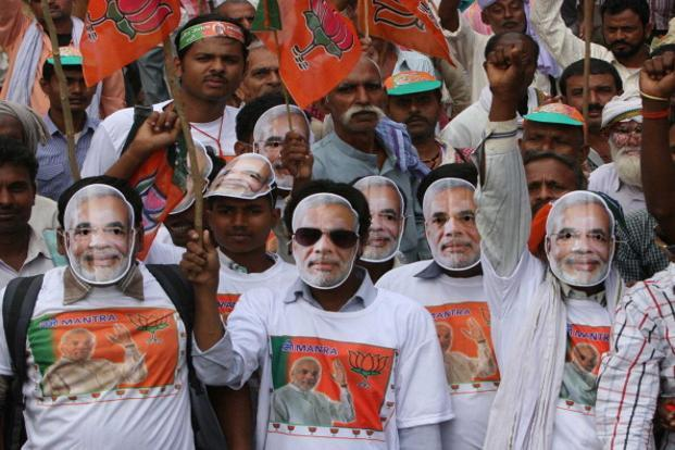 In just two-and-a-half years a Modi-led BJP has not only become the new pole of Indian politics but is also emerging as the glue for an otherwise fragmented opposition to unite. Photo: HT