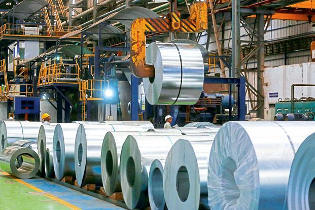 In December, steel consumption rose by 5.2% over a year ago and by 17.1% over November, according to data collated by the government's Joint Plant Committee. Photo: Bloomberg