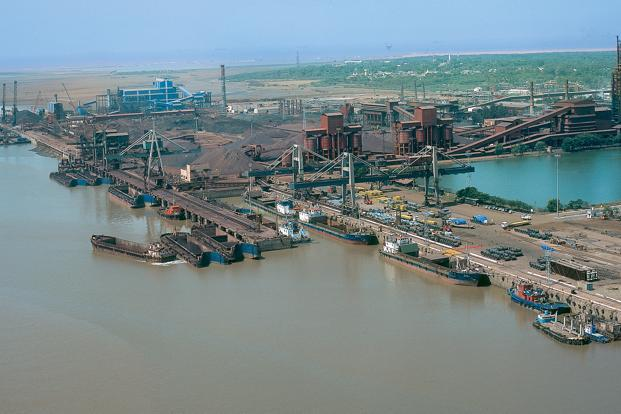 A file photo of the Essar Port in Hazira. Currently, the company operates five ports, all of which are largely for captive purpose.