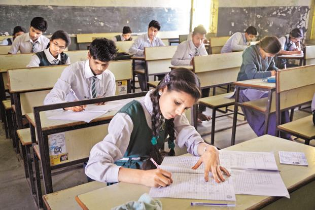 CBSE currently gives Class 10 and Class 12 students the option of taking either board exams or school-based annual examinations. Photo: HT