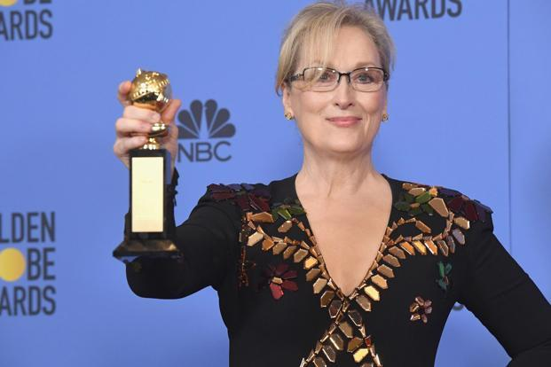 Actress Meryl Streep, recipient of the Cecil B. DeMille Award, poses in the press room during the 74th Annual Golden Globe Awards at The Beverly Hilton Hotel. Photo: Getty Images
