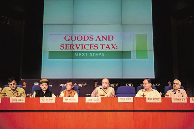Union finance minister Arun Jaitley addresses the media on Goods and Services Tax in New Delhi. A file photo: Mint