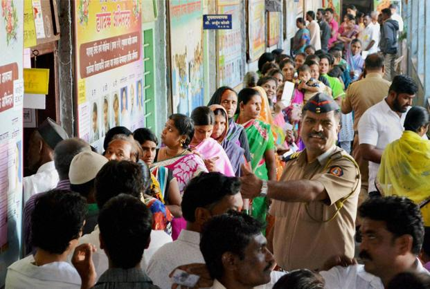 The cities to go to municipal polls together account for a population of over 20.5 million, while the districts which go to polls have a population of more than 50 million. Photos: PTI