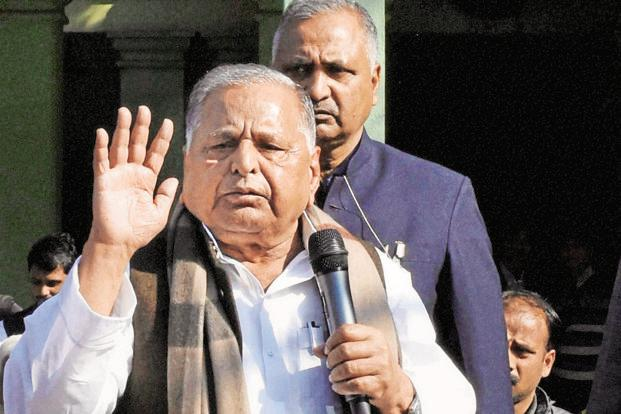Samajwadi Party chief Mulayam Singh Yadav said Akhilesh Yadav would be the next chief minister. Photo: PTI