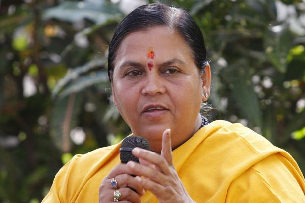A file photo of Union water resources minister Uma Bharti. Photo: Mint