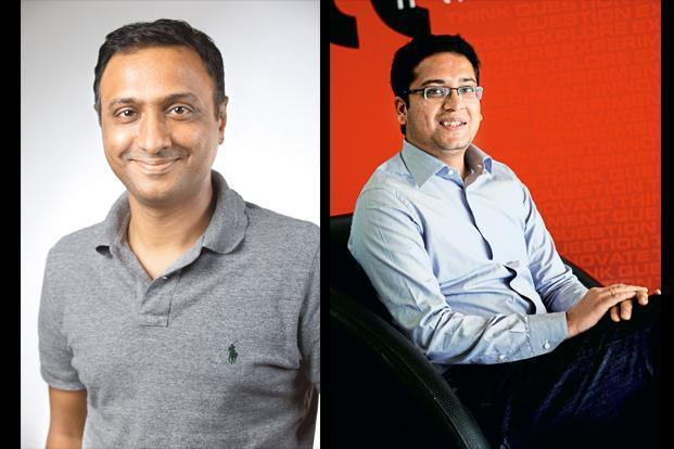 New Flipkart CEO Kalyan Krishnamurthy and group CEO Binny Bansal.