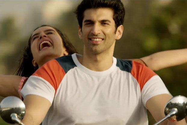 Aditya Roy Kapoor and Shraddha Kapoor in a still from 'OK Jaanu'.