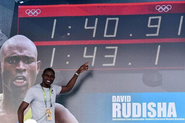 David Rudisha at an event in Mumbai. Photo: PTI.