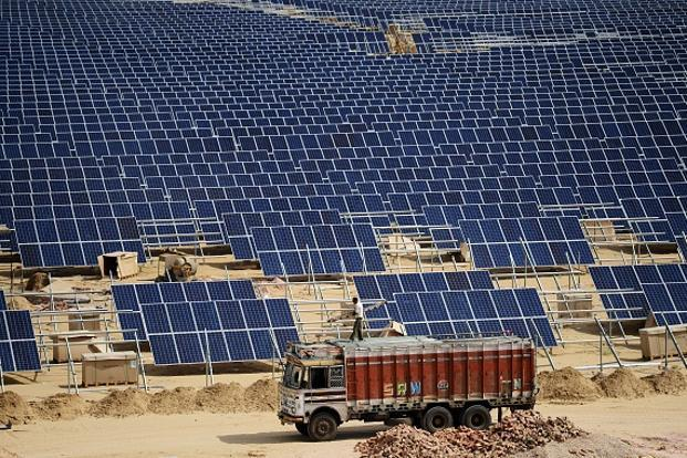 India is expected to add nearly twice as much new solar power as last year, outpacing once-booming Japan. Photo: AFP
