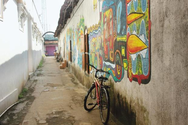 Wall art in Fort Kochi. Photo courtesy Ganesh Vancheeswaran.