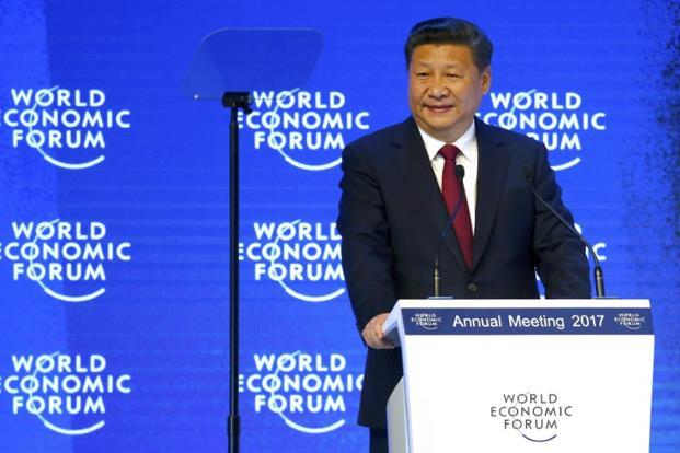 Chinese President Xi Jinping attends the World Economic Forum (WEF) annual meeting in Davos on 17 January. Photo: Reuters
