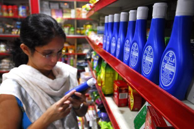Jyothy Lab's net sales were up 3.1% at Rs399.53 crore, compared with Rs387.66 crore last year. Sales growth in volume terms was 3.6%. Photo: Bloomberg