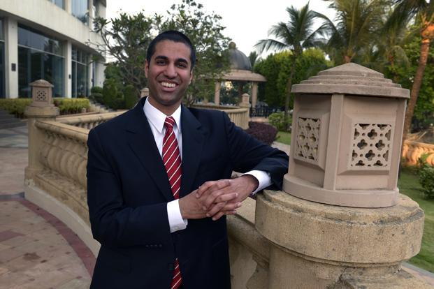 A file photo of Ajit Pai, a Republican Federal Communications Commission member. Photo: Mint