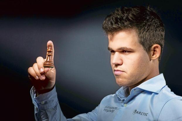 World chess champion Magnus Carlsen uses specialised chess computers for his training. Photo: AFP