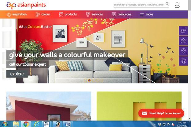 Shares of Asian Paints Ltd fell 0.16% to close at Rs964.25 per share on Monday on the BSE, while the benchmark index, Sensex gained 0.31% to close at 27117.34 points.
