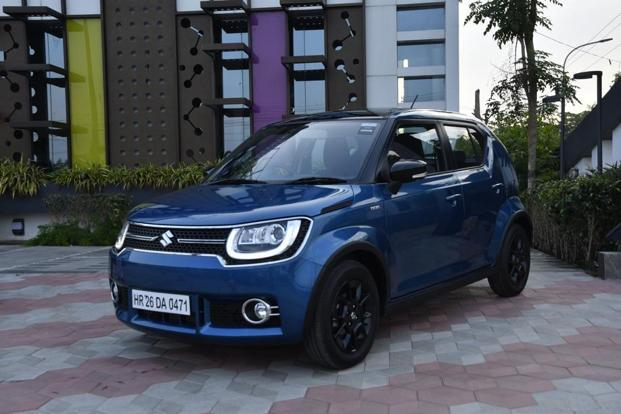 The top-end Ignis variant gets LED projector headlamps.