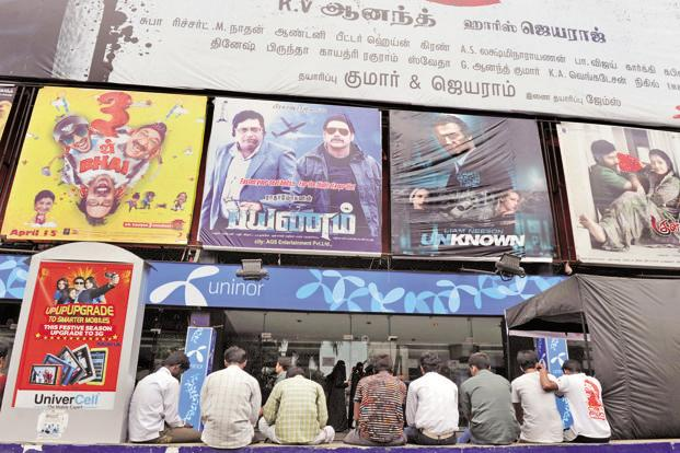 The figures of collections of south Indian films seem especially impressive considering the south is a cash-driven market and lacks an organized ticketing system in many places. Photo: AFP