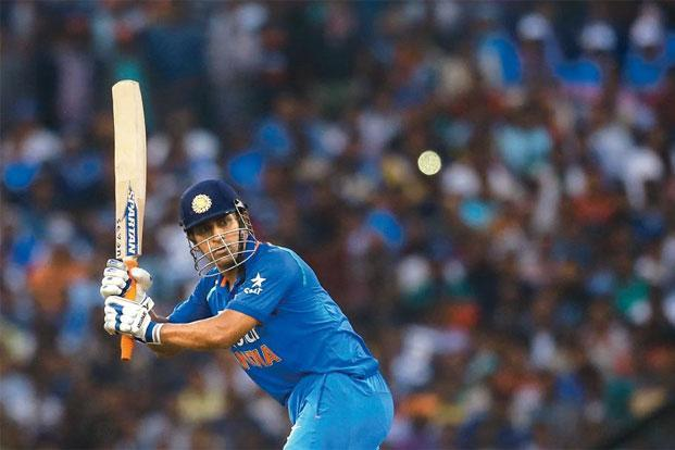 M.S. Dhoni scored a century in the second ODI against England in Cuttack. Photo: Aijaz Rahi/AP