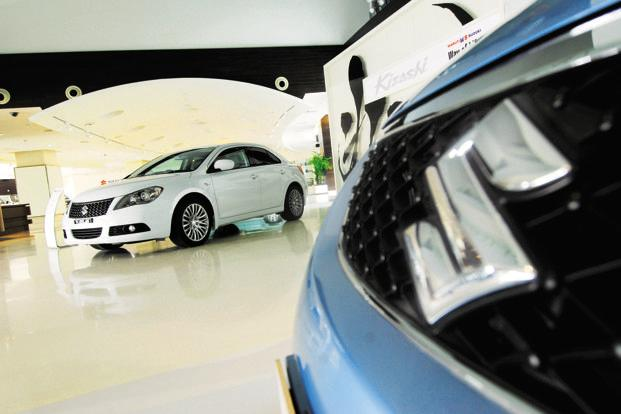 Maruti sold a total of 387,251 vehicles in the December quarter, a growth of 3.5% over the same period a year ago. Of this, exports stood at 30,748 units. Photo: Pradeep Gaur/Mint