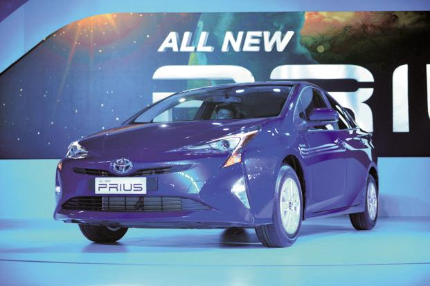 A file photo of Toyota Prius, a pure hybrid car by the Japanese carmaker. Toyota currently has a diesel-heavy portfolio in India. Photo: Pradeep Gaur/Mint