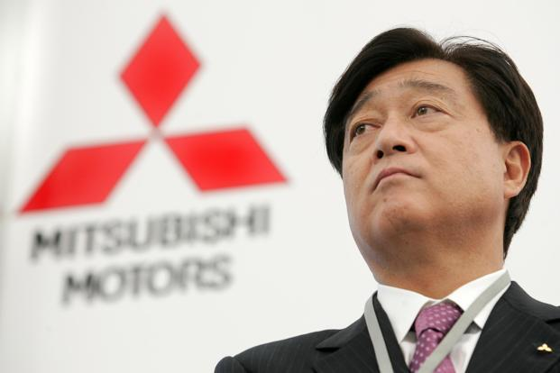 A file photo of Mitsubishi Motors president Osamu Masuko. The company said it had received the charges order, and would respond appropriately after examination. Photo: AFP