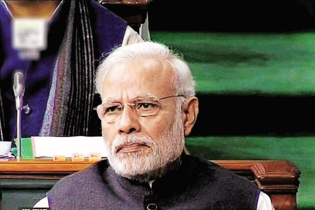 A file photo of PM Narendra Modi. On Saturday, Election Commission gave its nod to air the programme 'Mann ki Baat'. Photo: PTI
