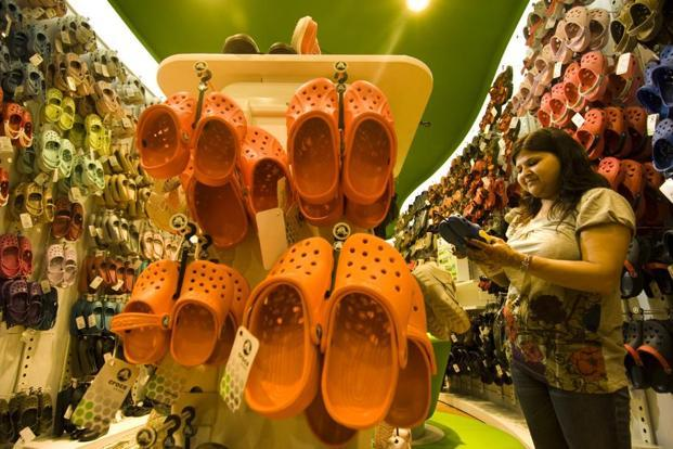 Crocs sold 15 lakh pairs of footwear in 2016. Photo: Harikrishna Katragadda/Mint