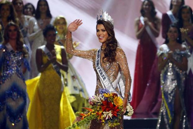 Iris Mittenaere's victory is the first by a French woman in more than 60 years. Photo: AP